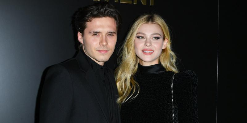Brooklyn Beckham and Nicola Peltz attend the Saint Laurent show as part of the Paris Fashion Week Womenswear Fall/Winter 2020/2021
