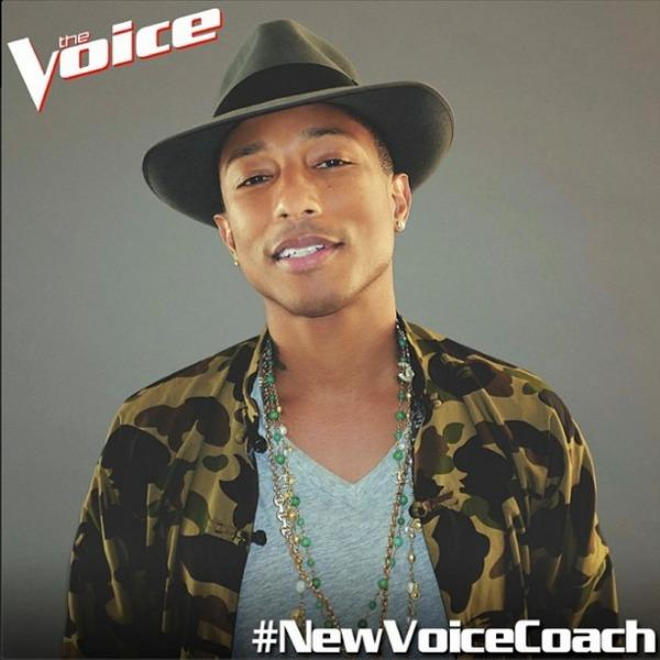 Pharrell WIlliams joins The Voice