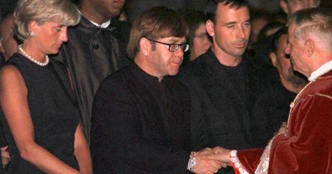 Elton john princess diana reunite gianni versace funeral