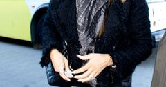 Sofia Vergara arrives at LAX with Joe Manganiello in an arm sling. Sofia was wearing her engagement ring