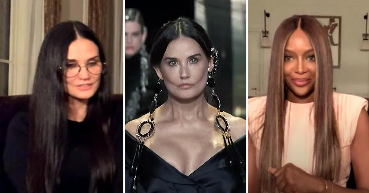 demi moore plastic surgery rumors fendi runway naomi campbell video pf
