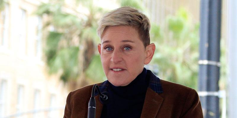 Ellen Degeneres Fired Intern On Her First Day, Wearing Brown Velvet Jacket