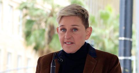 Ellen Degeneres Fired Intern On Her First Day, Wearing Brown Velvet Jacket
