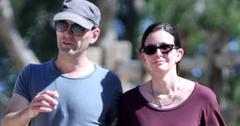EXCLUSIVE: Courteney Cox and fiance Johnny Mcdaid hiking together showing off Courteney engagement ring for the first time in Malibu
