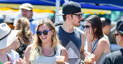 Pregnant hilary duff hit up farmers market main