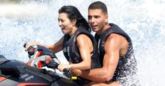During happier times between Kourtney Kardashian and Younes Bendjima, who were spotted during the Cannes Film Festival in France having a little fun with Kourtney recreating a scene from the movie Speed 2 and Younes hanging on the best he could!