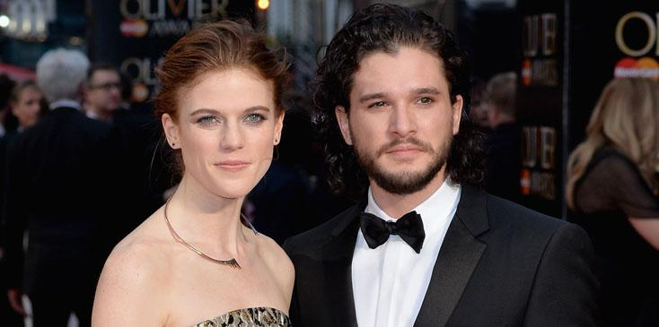 Kit Harington Rose Leslie Dating Together Game Thrones Long