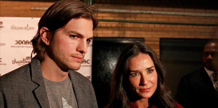 Ashton kutcher fasted in the woods after demi moore divorce