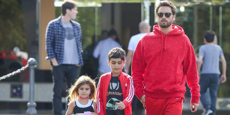 Scott disick kids movie outing