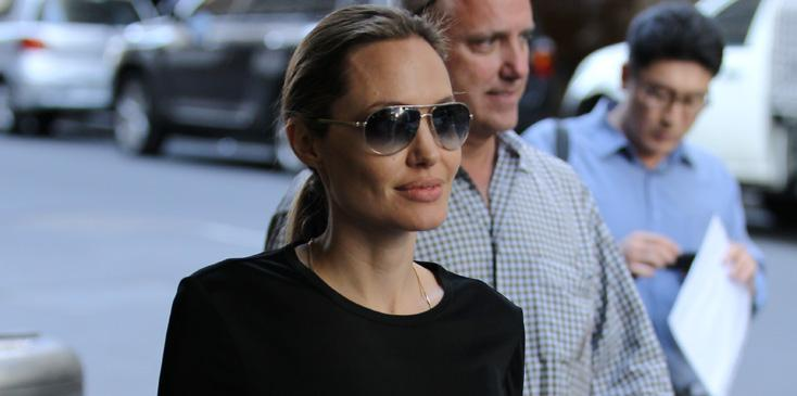 EXCLUSIVE: Angelina Jolie scouts locations for filming Unbroken in Sydney while sporting her brand new wedding ring