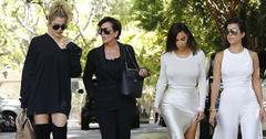 The Kardashian's Film Their Show In Woodland Hills