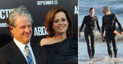 Sigourney Weaver And Jim Simpson In The Surf