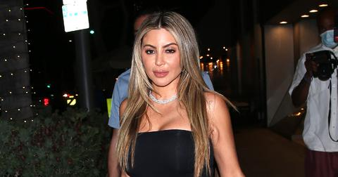 Larsa Pippen arrives with Sheeraz Husan at Il Pastaio Italian Restaurant in Beverly Hills CA