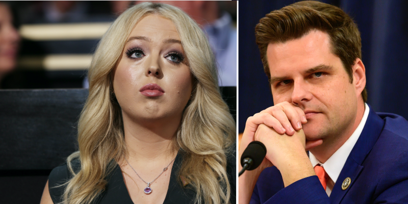 Congressman Matt Gaetz Called Out For Gross Tweet To Tiffany Trump