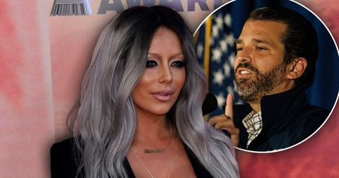 Aubrey O'Day with Inset of Donald Trump Jr.