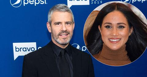 Andy Cohen On Red Carpet Meghan Markle Inset