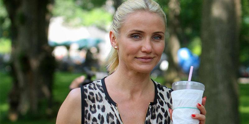 CAMERON Diaz shoot scenes for 'The Other Woman' in Central Park, NYC