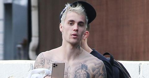 Justin Bieber Shirtless Leaving The Studio