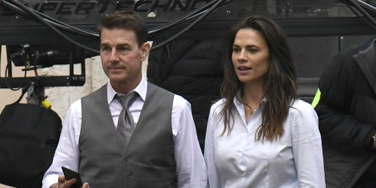 Tom Cruise and Hayley Atwell are handcuffed on Mission Impossible 7 set in Rome