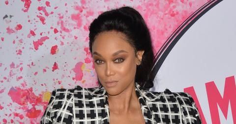 Tyra Banks Wearing a Checkered Outfit