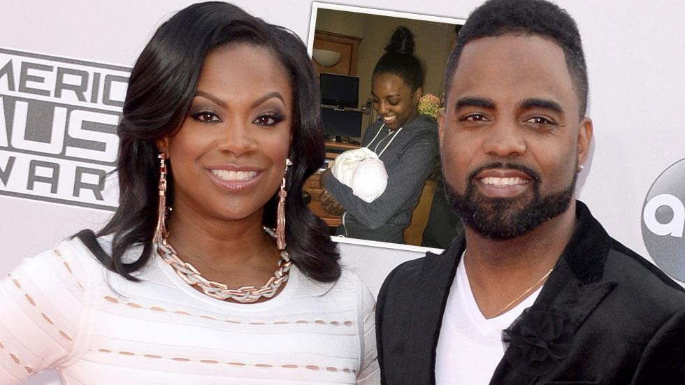 Kandi Burruss Daughters Cuddle Son Photo