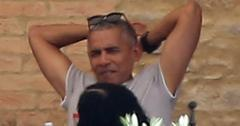 *PREMIUM EXCLUSIVE* Barack Obama enjoys his vacation at luxury Tuscan estate as Trump makes first overseas trip