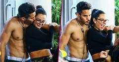 jwoww shirtless mystery man filming jersey shore family vacation miami pics pp
