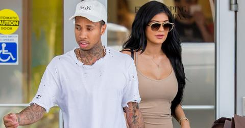 EXCLUSIVE: Kylie Jenner and Tyga shop for home decor from Z Gallerie at the Westfield Mall in Woodland Hills, California