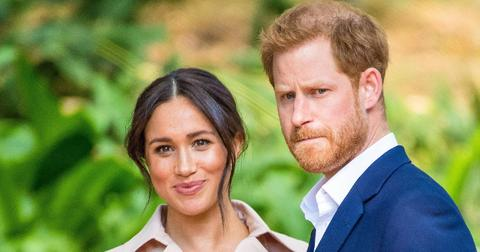 Meghan Markle and Prince Harry pictured in South Africa.