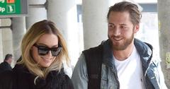 Margot Robbie with boyfriend Tom Ackerley arrive at JFK airport in NYC.