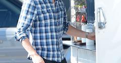 Cory Monteith goes to the 'Glee' season 5 cast photo shoot