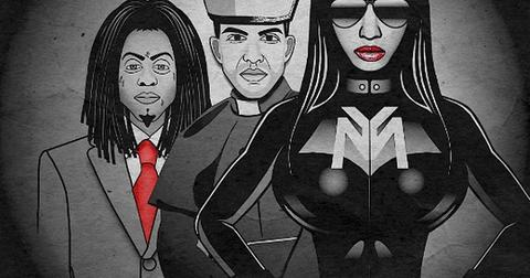 Nicki minaj lil wayne drake only cover art