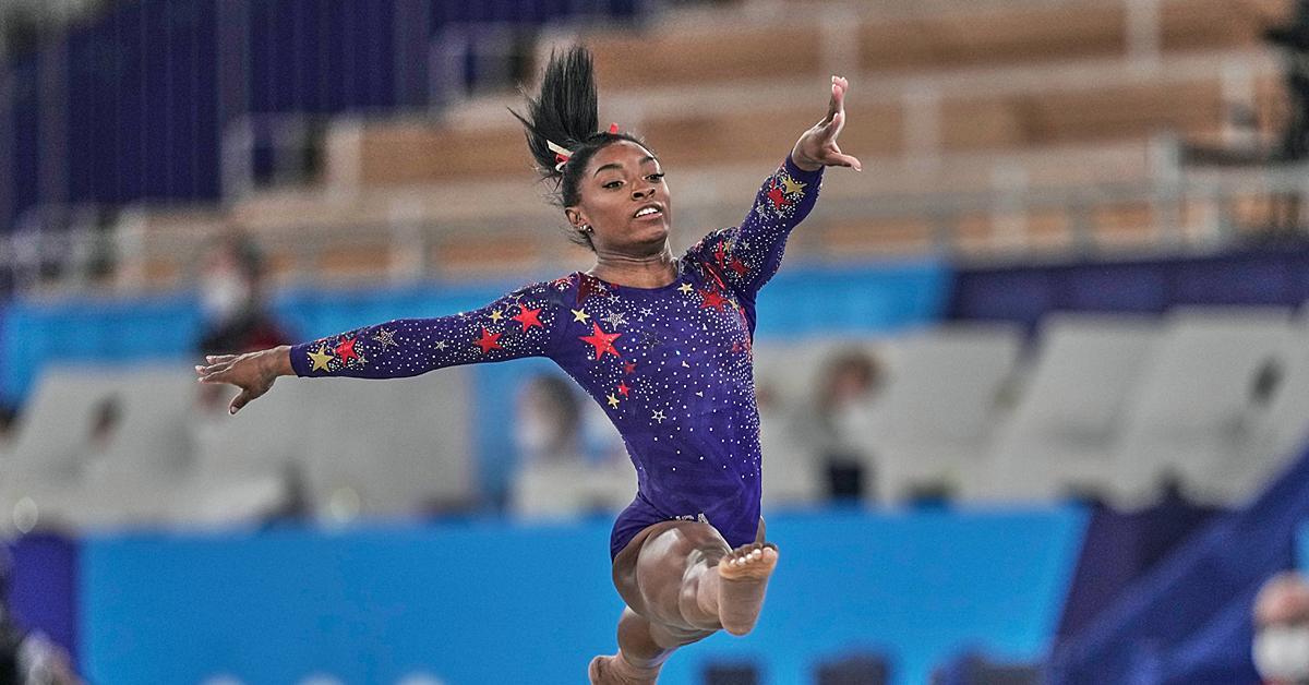 simone biles compete olympics balance beam final withdrawal