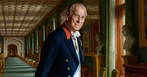 prince philip new royal portrait retiring age 96 pics pp