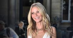 Gwyneth Paltrow Smiling Wearing White dress