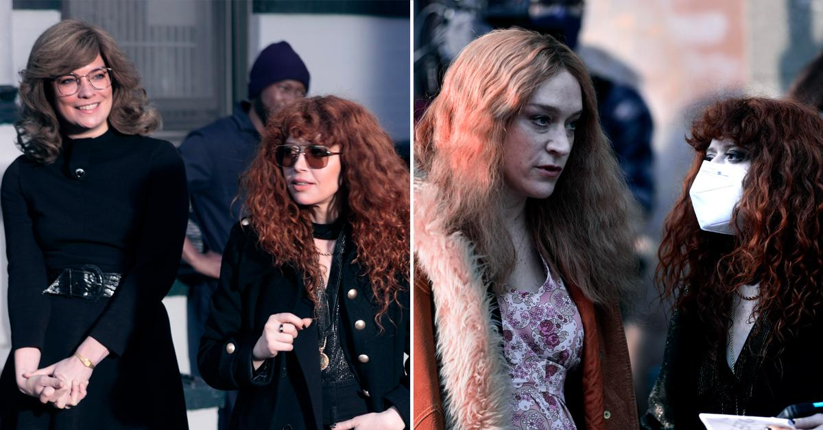 annie murphy chloe sevigny and natasha lyonne on set of russian doll