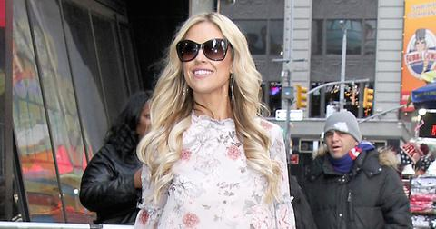 "Christina El Moussa shows off her legs arriving for ""Good Morning America"""
