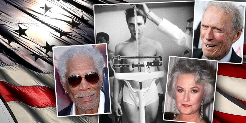 Celebrities Who Were Veterans Or Served In The Military morgan Freeman Elvis Presley Bea Arthur Clint Eastwood