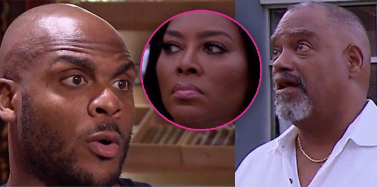 Kenya moore father confronts boyfriend matt jordan