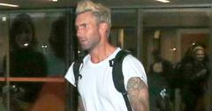 *EXCLUSIVE* Adam Levine and his bandmates arrive in Rio