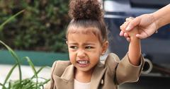 North West going to her ballet class in Tarzana