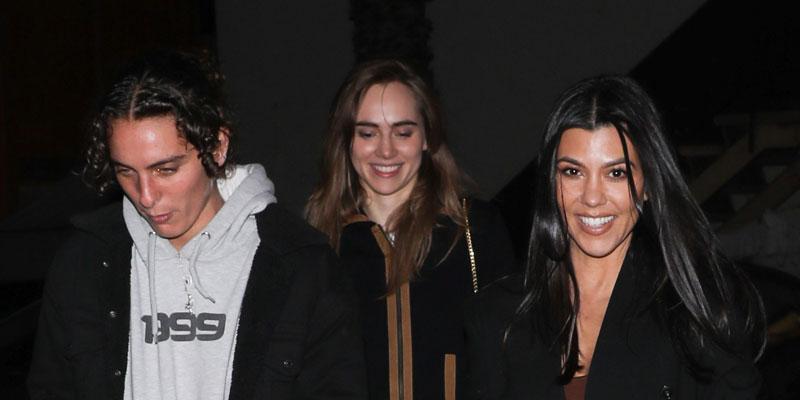 Kourtney Kardashian With Friends