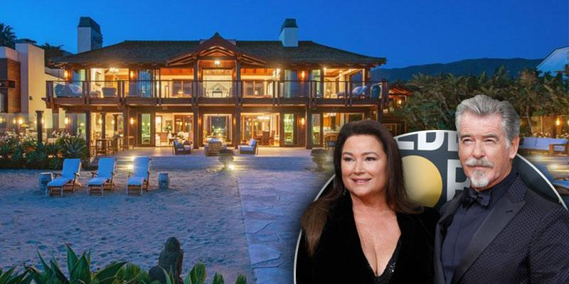 Inside Pierce Brosnan's Beachfront Mansion In Malibu