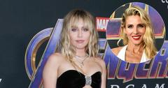 Miley Cyrus On Red Carpet Elsa Pataky Inset