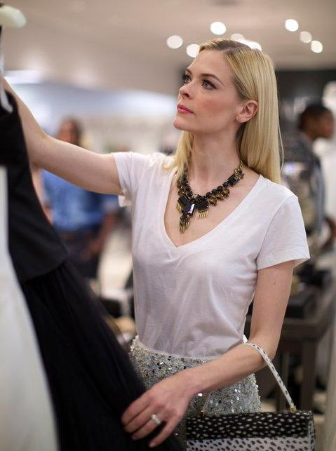 Jaime King at David's Bridal