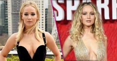 Jennifer Lawrence Red Sparrow Cleavage Baring Dresses Pics PP