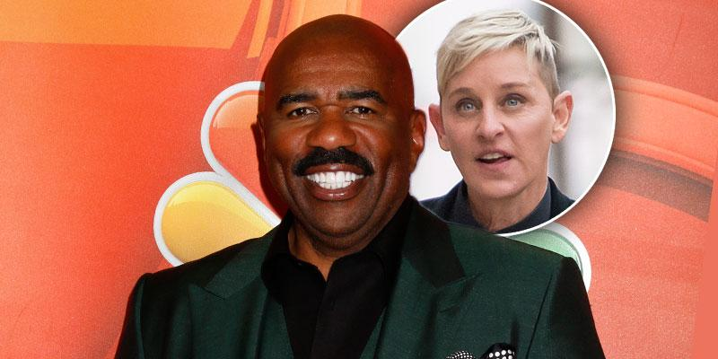 [Steve Harvey] Calls [Ellen DeGeneres] 'One Of The Kindest People' Amid Show Scandal