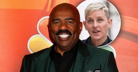 [Steve Harvey] Calls [Ellen DeGeneres] 'One Of The Kindest People' Amid Show Scandal