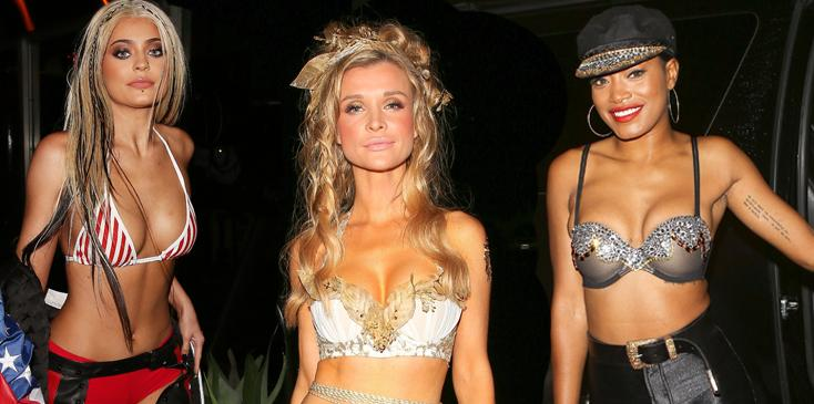 Celebrity sexy almost naked halloween costumes tight outfit exposed hero