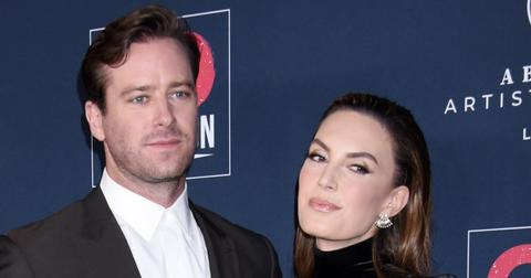 Armie Hammer Posing With Elizabeth Chambers